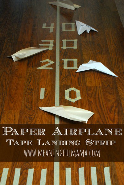 Source: http://meaningfulmama.com/2014/03/paper-plane-tape-landing-strip.html
