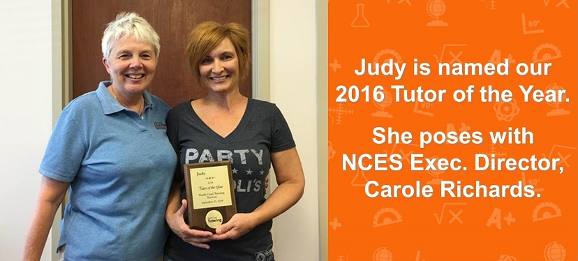 Judy -- 2016 Tutor of the Year