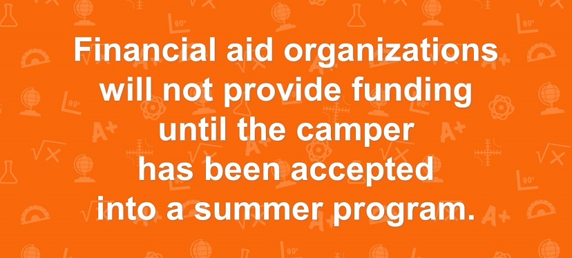 Camp financial aid